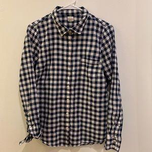 J. Crew Factory Gingham Button Down Shirt
